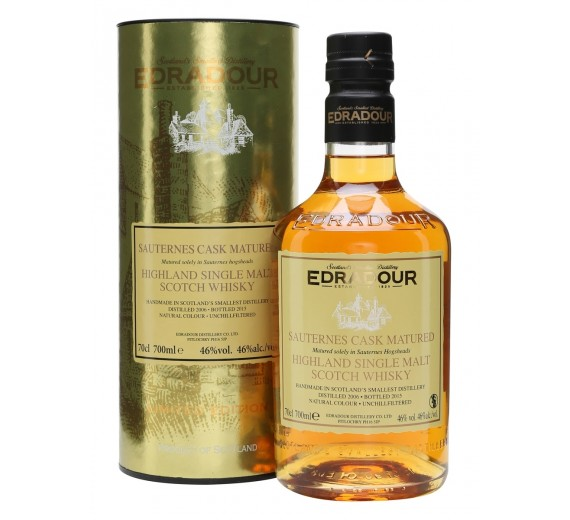 Edradour Distillery 9 Y.o Sauternes Cask Matured Highland Single Malt