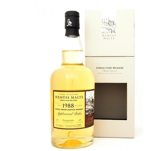Invergordon 1988 27 Y.o Wemyss Applewood Bake Highland Single Cask Grain