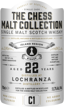 "The Chess Malt Collection Lochranza 22 Y.O ""The White Bishop""-20"